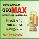 GEOMAX - Geodetická kancelária - Geodetické práce